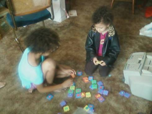 Here is Danger Girl helping Chatterbox with her alphabet.