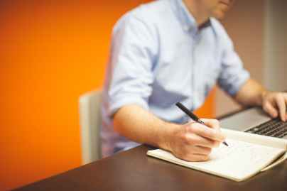 businessman man space desk
