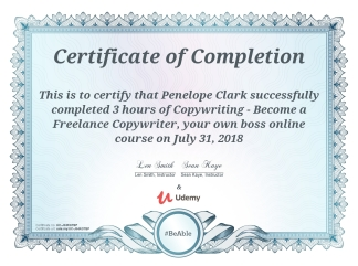 Freelance Copywriting Cert